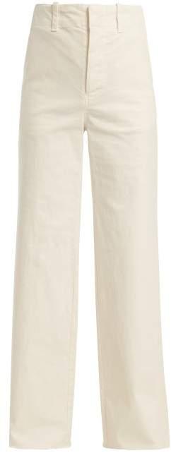 Nili Lotan Irene Wide Leg Jeans - Womens - Cream