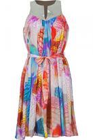 Multi Color Beaded Yoke Dress