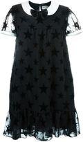 Saint Laurent star motif babydoll dress - women - Silk/Polyester/Acetate/Viscose - 42