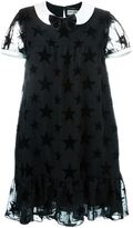 Saint Laurent star motif babydoll dress