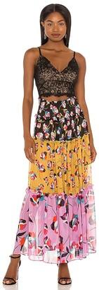 BCBGMAXAZRIA Cut Out Maxi Dress