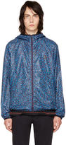 Paul Smith Blue Multidot Hooded Jacket