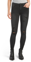 Juniors Skinny Jeans With Destroyed Hem