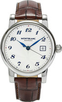 Montblanc 107315 Star stainless steel and leather watch