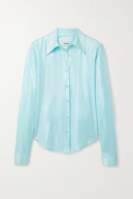 we11done Metallic Jersey Shirt - Sky blue