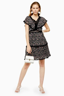 Lace & Beads Womens **Black Printed Dress By Black