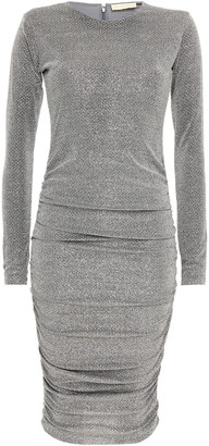 Melissa Odabash Ruched Metallic Knitted Dress