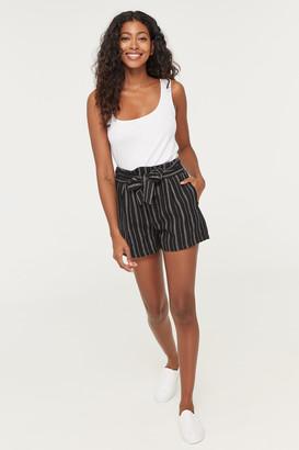 Ardene Striped Paper Bag Shorts