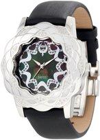 Brillier Women's 10-4F121-09 La Fleur Round Diamonds Stainless Steel Analog Watch