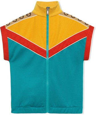 Gucci Kids Sleeveless Sweatshirt In Technical Jersey