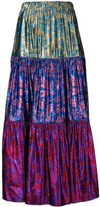 Gucci Metallic Brocade Skirt