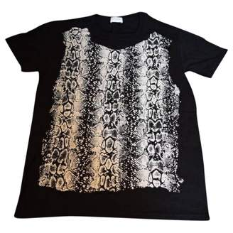 Saint Laurent Black Cotton T-shirts