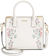 Calvin Klein Embroidered Small Crossbody Satchel