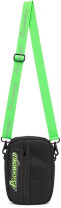 Psychworld Black and Green Logo Crossbody Bag