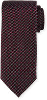 Neiman Marcus Square and Dotted Silk Tie, Red