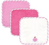 Just Born Just Bath Love to Bathe 4-Pack Woven Washcloth Set, Elephant by