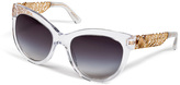 Dolce & Gabbana Cat-Eye Sunglasses with Gilded Detailing