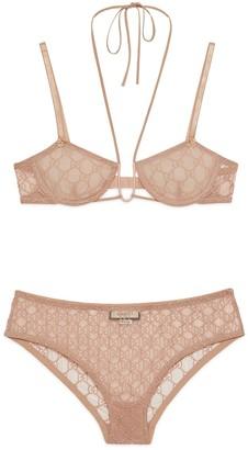 Gucci GG tulle lingerie set