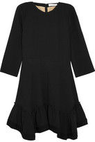Chloé Ruffled Crepe Mini Dress - Black