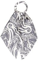 Thomas Wylde Abstract Printed Silk Scarf