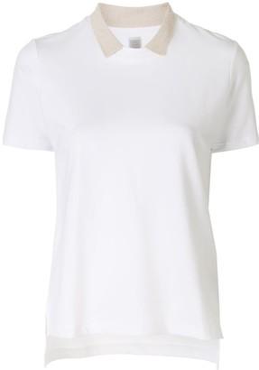Eleventy layered collar T-shirt