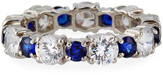 FANTASIA Alternating Big and Little Stone Ring, Size 6-8