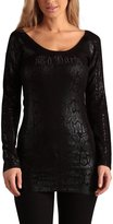 Ed Hardy Long Sleeve Scoop Neck Tunic