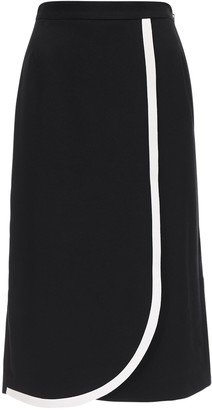 Alessandra Rich Light Cool Wool Two Tone Skirt
