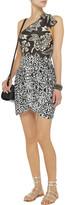 Isabel Marant Jeryl printed stretch-jersey wrap mini skirt