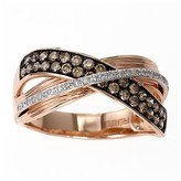 Effy Jewelry Effy Espresso 14K Rose Gold Cognac and White Diamond Ring, 0.48 TCW