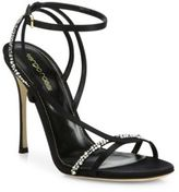 Sergio Rossi Lexington Swarovski Crystal Strappy Sandals