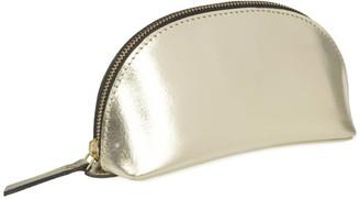 Vida Vida Lunar Gold Leather Make-Up Bag