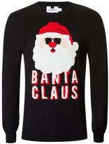 Topman Black Banta Claus Ugly Sweater