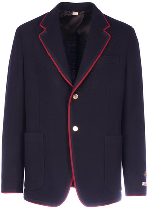 Gucci Patch Detail Single Breasted Jacket