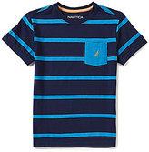 Nautica Big Boys 8-20 Striped Crewneck Short-Sleeve Tee