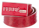 Gianfranco Ferre Embossed Leather Belt