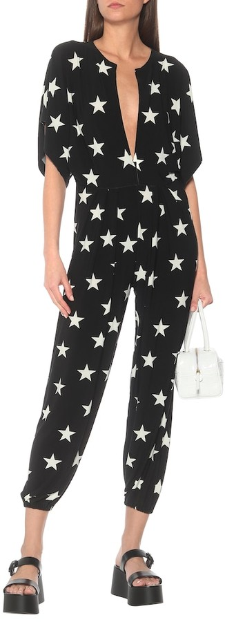 Thumbnail for your product : Norma Kamali Star-print stretch-jersey jumpsuit