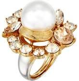 Oscar de la Renta Crystal Pearl Ring Ring