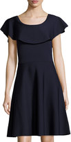 Eliza J Ruffle-Trim Fit-and-Flare Dress