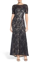 Adrianna Papell Petite Women's Sequin Lace Gown