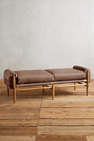 Anthropologie Leather Rhys Bench