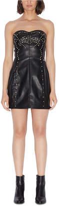 Armani Exchange Stretch Faux-Leather Dress
