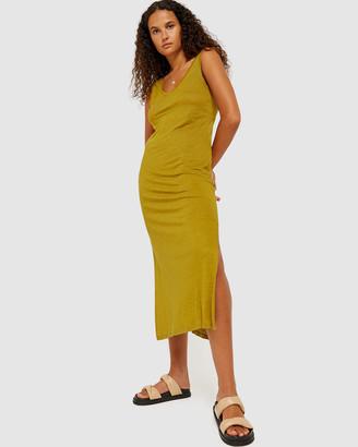 Jag Ava V-Neck Linen Tank Dress