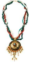 Erickson Beamon Beaded Medallion Necklace