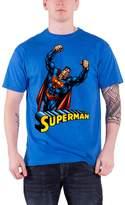 Superman T Shirt Flying new Official DC Comics Mens Blue