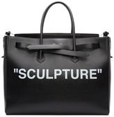 Off-White Black Xl sculpture Cut Flap Tote