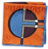 Eton Men's Dot Jacquard Silk Pocket Square