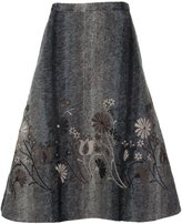 Co floral embroidered full skirt
