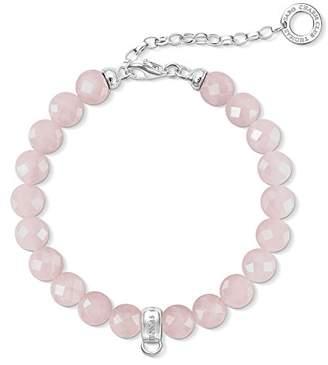 Thomas Sabo Women Charm Bracelet Pink 925 Sterling Silver X0227-034-9