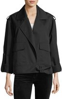 Robert Rodriguez Aviator Open-Front Notched-Collar Wool Jacket
